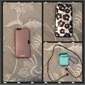 Accessories - 🌸iPhone 6/6S Plus 2 Cases & BONUS AirPods Case!🌸